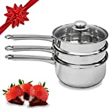 Amazon.com: Cuisinart 77-35CG Chef's Classic Stainless 3-Piece 3-Quart Steamer Set: Cuisinart Steamer Pan: Gateway