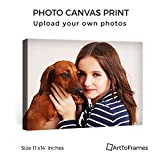 ArtToFrames 11x14 Custom Canvas Print - Upload Your Photo or Picture - Mirror Wrap 1.5 Inch