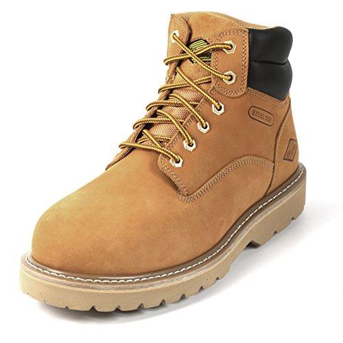 Rockhard 6'' Wheat Safety Work Boot (9) (9, Black)