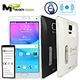 Mugen Power Samsung Galaxy Note 4 Wireless Charge NFC Android Pay Fast Charge 6640mAh Extended Battery Non-Slip Better hand Grip Back Cover (Black)