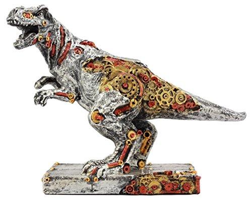 Ebros Gift Painted Gear Work Steampunk T-Rex Figurine Jurassic Era Predator Tyrannosaurus Rex Statue Dinosaur - Era Steam Punk