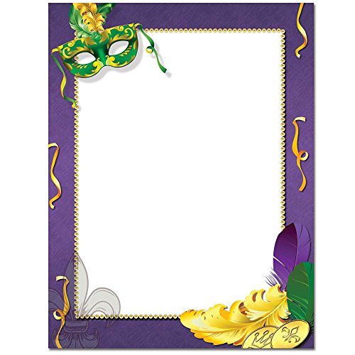 Mardi Gras Letterhead Stationery Printer Paper 100 (Mardi Gras Stationery)