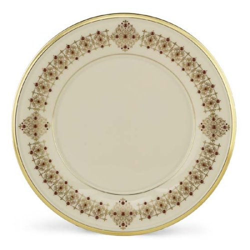 Lenox Eternal Gold Banded Ivory China 9-Inch Accent Plate Lenox China Accent Plate
