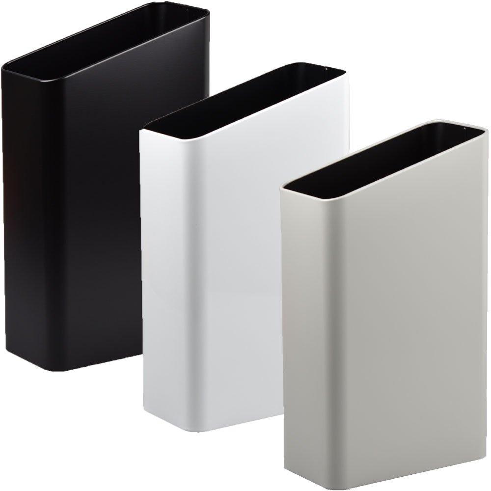 ぶんぶく サイドバケット 大 全9色の中から選べる3個セット ゴミ箱 ごみ箱 ダストボックス おしゃれ 日本製 (ブラック×ホワイト×グレー) B075GHCSCK ブラック×ホワイト×グレー ブラック×ホワイト×グレー