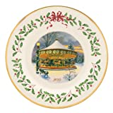 Lenox 2014 Holiday Collectors Plate Carousel