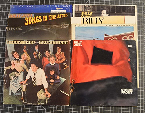 9 different billy joel lps: storm front, an innocent man, the nylon curtain, streetlife serenade, the bridge, songs in the attic , the stranger, turnstiles (In The Songs Attic Joel)