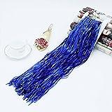 Topbeu Shiny Foil Fringe Curtain for Party Photo Backdrop Wedding Holiday Decor, 3.2 x 6.5 feet (Blue)