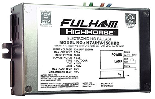 Fulham Electronic HID Ballast, H7-UNV-150HBC by Fulham Lighting