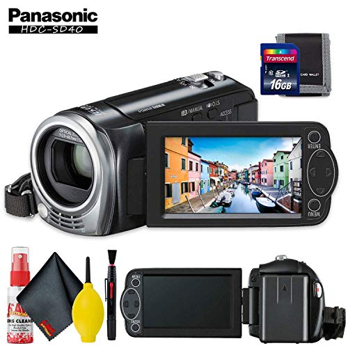 Panasonic HDC-SD40 High Definition Camcorder (Black) with Memory Card Kit and Cleaning Kit (Sd40 Panasonic)