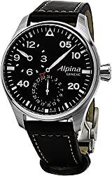 Alpina Aviation Startimer Pilot Chronograph Men's Leather Strap Watch AL-860GB4S6