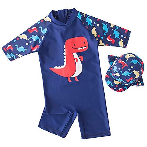 30d42add40 Boys Swimwear, Sun Protection UPF 50+ Rash Guard Set -Kids Swimsuit Shirt  Trunk Set with Drawstring Stretchy Material -True Size- 1-16Years