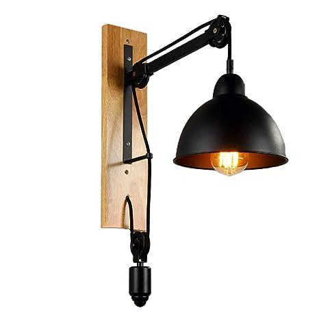 b9ff74e77da YHMLSH Lámpara De Pared Ajustable Vintage