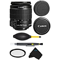 Canon EF-S 18-55mm f/3.5-5.6 IS II Lens Bundle For Canon SL1 T5i T5 T4i T3i T3 60D 70D T2i T1i Xsi XS DSLR Camera (International Version) No Warranty.