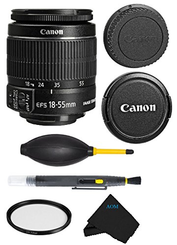 Canon EF-S 18-55mm f/3.5-5.6 IS II Lens Bundle For Canon SL1 T5i T5 T4i T3i T3 60D 70D T2i T1i Xsi XS DSLR Camera (International Version) No Warranty. by AOM