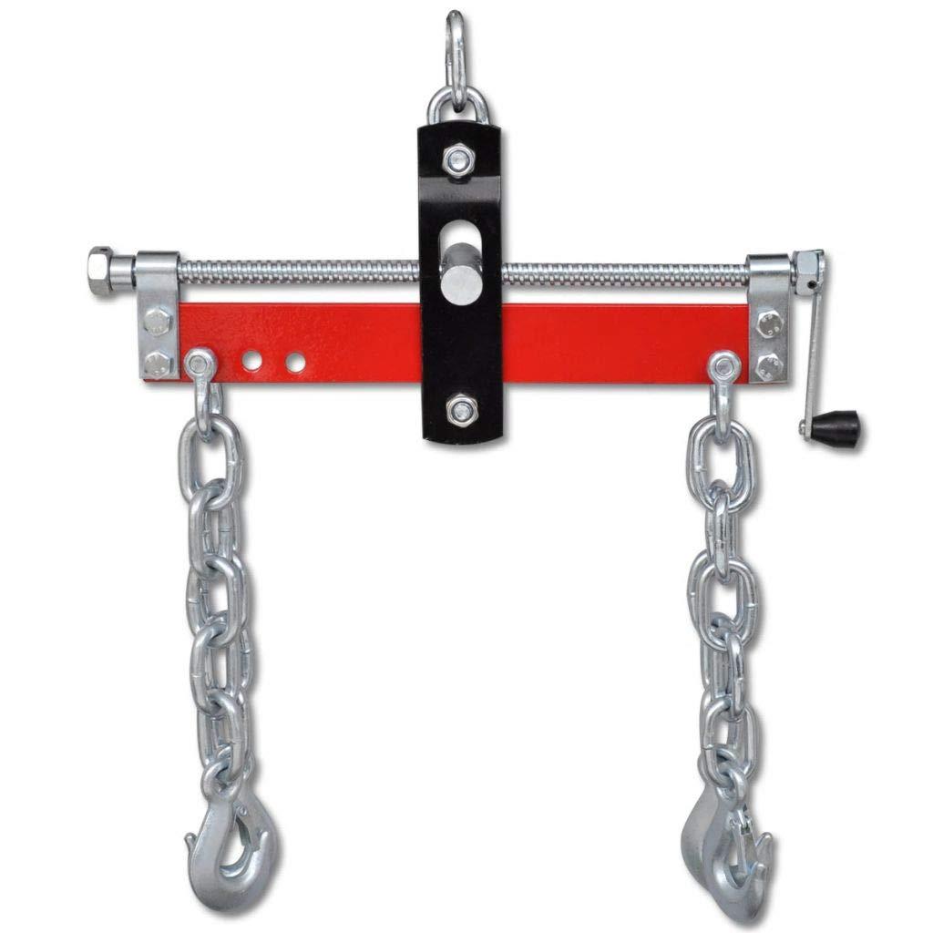 Tidyard Engine Leveller with Handle and 4 Chains for Shop Crane Garage Loading Balancer Loading 900 kg
