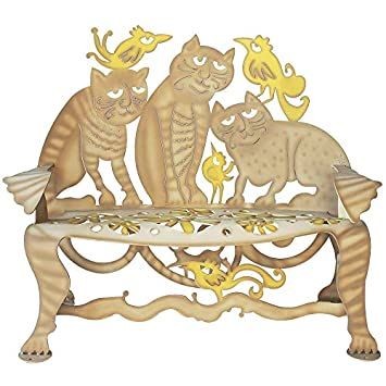 Awesome Amazon Com Cricket Forge Cat Bench Tan Yellow Outdoor Inzonedesignstudio Interior Chair Design Inzonedesignstudiocom