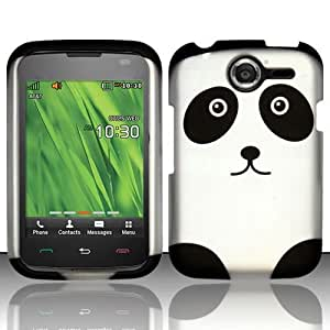 SODIAL(R) Panda Hard Case Snap On Rubberized Cover For Pantech Renue P6030 AT&T
