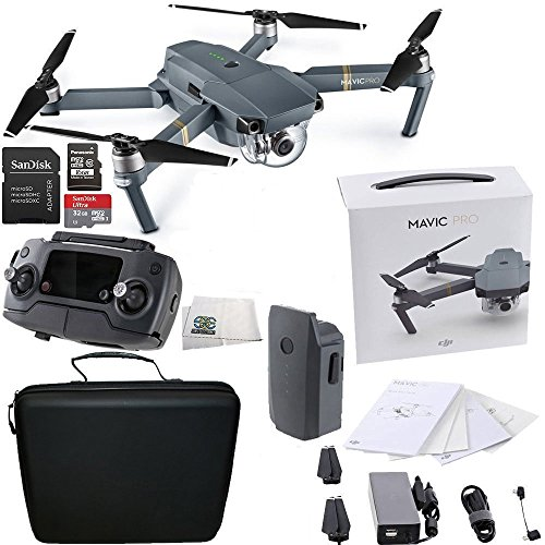 DJI Mavic Pro Collapsible Quadcopter Starters Travel Bundle