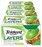 Trident Layers Sugar Free Gum (Green Apple & Golden Pineapple, 14-Piece, 12-Pack)