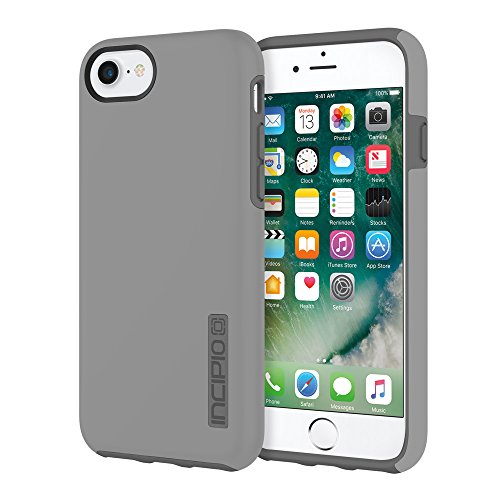 Incipio DualPro iPhone 8 & iPhone 7/6/6s Case with Shock-Absorbing Inner Core & Protective Outer Shell for iPhone 8 & iPhone 7/6/6s - - Case Grey
