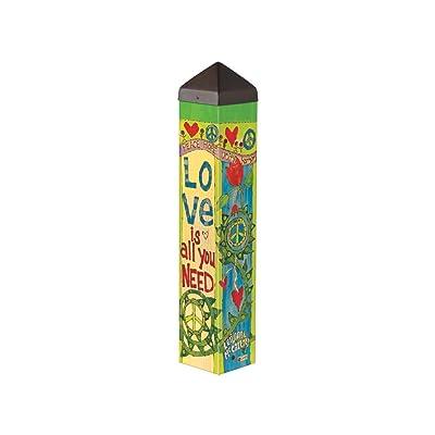 Studio M PL1074 Garden Art Pole, Love is All You Need : Garden & Outdoor