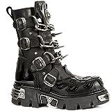 New Rock Unisex Black Stylish Boots -M 727 S1 (EU 39, Black)