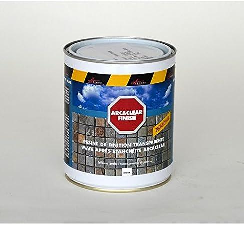 Finition Mate Etancheite Carrelage Transparente Resine Polyurethane Terrasse Balcon Piscine Arcaclear Finish Transparent 1 Kg Arcane Industries Amazon Fr Bricolage