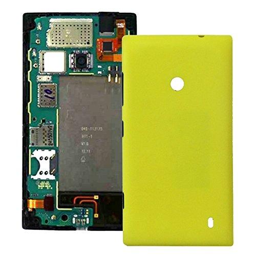 LIUJUN Phone Accessiories Plastic Back Housing Cover for Nokia Lumia 520(Black) Spare Parts (Color : Yellow) (Nokia Lumia 520 Back Cover)