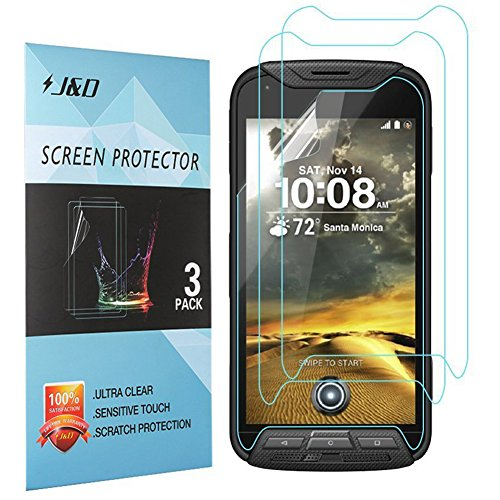 Kyocera DuraForce Pro Screen Protector, J&D Premium HD Clear Film Shield Screen Protector for Kyocera DuraForce Pro (3 Packs)