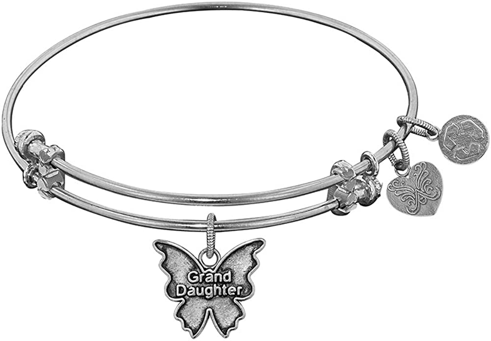 Angelica Collection Antique Smooth Finish Brassgrand Daughter Expandable Bangle