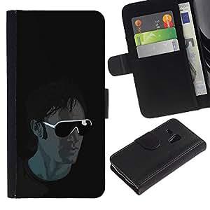Ihec-Tech / Flip PU Cuero Cover Case para Samsung Galaxy S3 MINI NOT REGULAR! I8190 I8190N - Cool Sunglasses Guy
