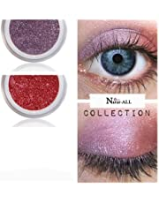 2 Eyeshadows: PURPLE & RED 100% Organic Vegan Made in Canada BARE Natur-ALL MINERALS Eye Shadow Gluten & Bismuth FREE 100% Naturally Derived with mineral power instead of petrochemicals.