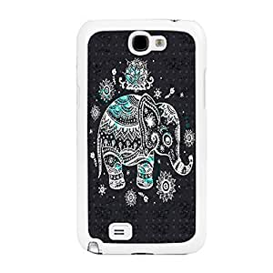 New Stylish Design Hard Mobile Phone Protector Animal Print Case Cover for Samsung Galaxy Note 2 N7100 (aztec tribal elephant BY401) WANGJING JINDA