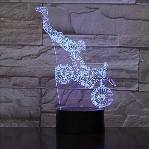 Luces LED 3D luces de taxi de la motocicleta luz de la noche niños viaje recuerdo lámpara de mesa decoración del dormitorio bebé luces para dormir regalo de Navidad de vacaciones