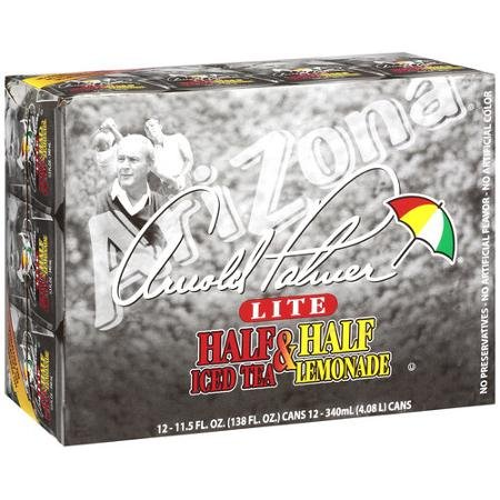 Arizona Arnold Palmer Lite Half & Half Iced Tea/lemonade, 11.5 Oz, 12ct (Pack of 4)