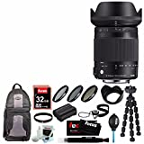 Sigma 18-300mm F3.5-6.3 DC Macro OS HSM For Canon w/ Accessory Bundle