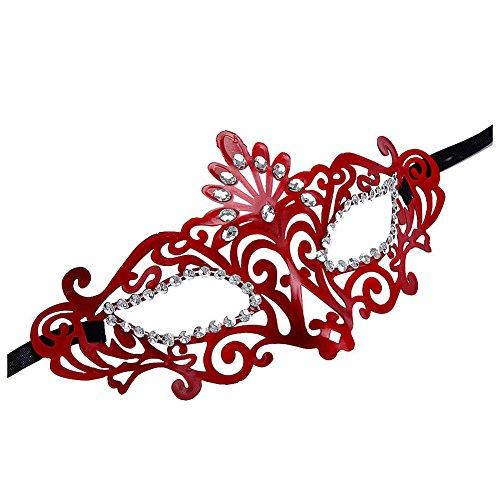 [Masquerade Eye patch - TOOGOO(R)Red Crown Sexy Women Venetian Hollow Masquerade Eye Face Mask Party Ball Prom Halloween] (Hollow Face)