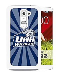 NCAA New Hampshire Wildcats 7 White LG G2 Protective Phone Cover Case