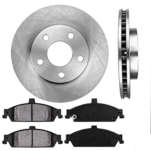 (FRONT 278 mm Premium OE 5 Lug [2] Brake Disc Rotors + [4] Metallic Brake Pads)