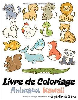 Amazon Livre De Coloriage Animaux Kawaii Coloriage Kawaii Animaux Pour Enfants A Partir De 2 Ans 30 Coloriages D Animaux Mignons Format A4 Chat Tigre Panda Editions Couleurs Bonheur Animals