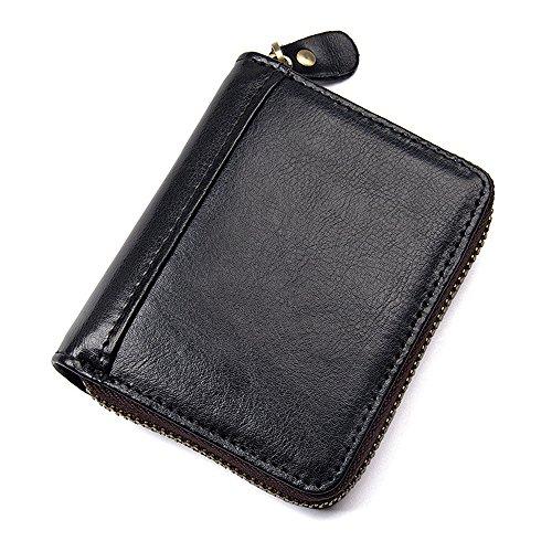 Señoras Portátil Mujeres Invierno Breve Minimalismo Y Opcional Hombres Negro Restaurar Mini Billetera Antigua Bolso Cartera Cuero Con Un Moda Ywx Las Bolsillo Para La Párrafo De wgZqqSX