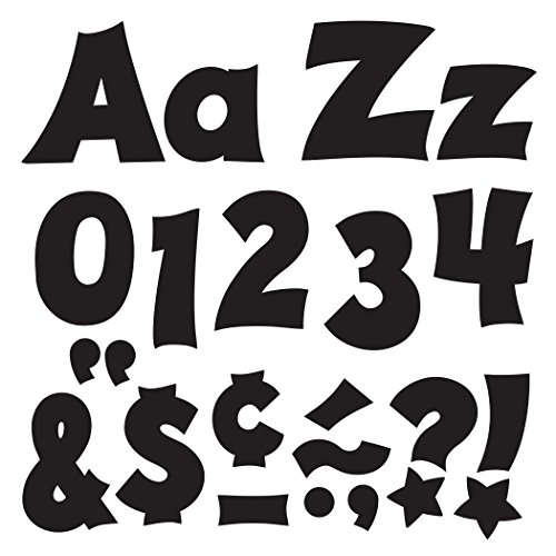 Trend Enterprises T-79802BN Black 4'' Friendly Combo Ready Letters, 3 Packs by TREND Enterprises