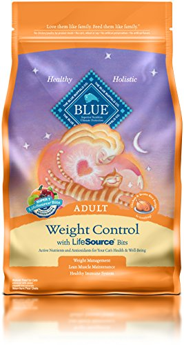 Blue Buffalo Adult Cat Weight Control Formula Dry Cat Food 7 lb Bag