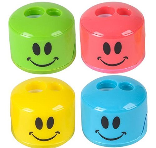 1.5'' SMILE FACE SHARPENER, Case of 24