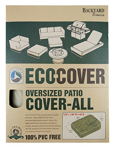 Mr. Bar-B-Q Backyard Basics Eco-Cover PVC Free Oversized Cover All Patio Cover