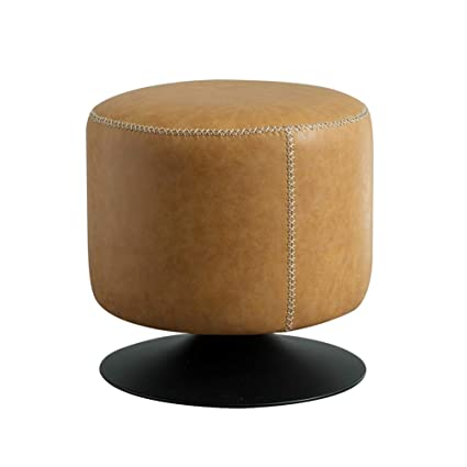 Outstanding Amazon Com Lovehouse Round Swivel Ottoman Faux Leather Alphanode Cool Chair Designs And Ideas Alphanodeonline