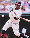 CARLOS SANTANA SIGNED 16x20 PHOTO AT BAT WITH CLEVELAND INDIANS INCLUDES COA