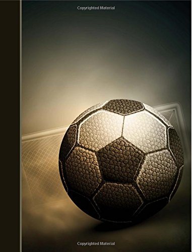 Composition Notebook: Soccer Ball College Ruled Lined Pages Book for Boys (7.44 x 9.69)