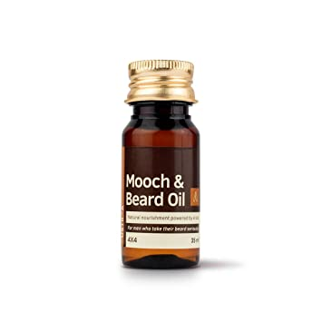 Ustraa Mooch and Beard Oil 4x4 for men - 35 ml Aftershave Treatments at amazon
