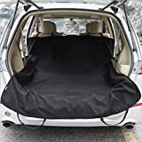 "82"" x 59"" Waterproof Car Towel Seat Cover Pet Cargo Liner Cover for Dogs Universal SUVs Sedans Vans - Machine Washable,Non-Slip, Black - Fitness after Outdoor Activities,Dog Park - Leader Accessories"